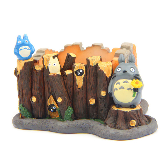 studio ghibli my neighbo totoro figures toys resin fence stand totor