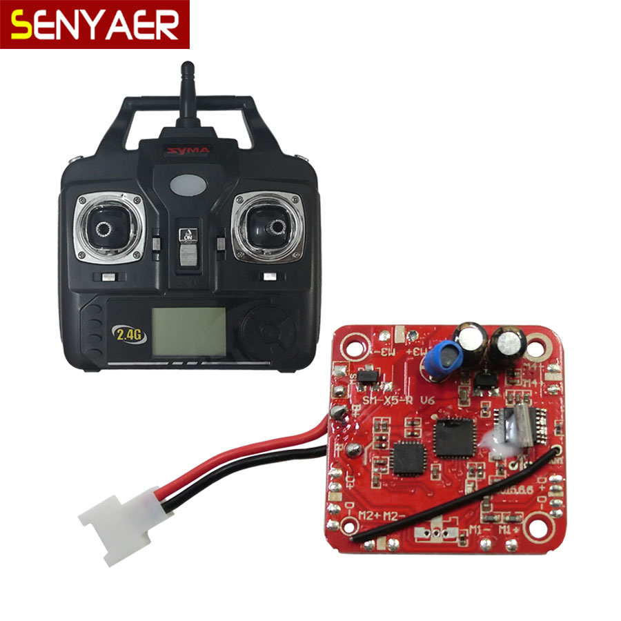 Upgraded version SYMA V6 receiver/main board+Transmitter Remote Control For X5 X5C RC Quadcopter Spare Parts Helicopter PCB h22 007 receiver board spare part for h22 rc quadcopter