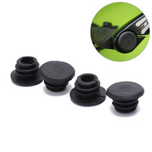 4pcs End Tappi Tappi Caps Bike Nero Mini Impugnatura In Gomma Manubrio Bar(China)