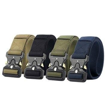 Nowy styl Sprzęt Wojskowy Armia Tactical Pas Mężczyzn Zagęścić Wytrzymały Nylonowa Metalowa Klamra Pasa Walki Pasy Wielu kolorach