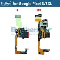 USB de Carregamento Para O Google Pixel 3 3XL Charger Porto Dock Connector Cable flex Para O Google Pixel 3 3XL Parte Substituição original Top