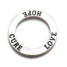 DOPPEL NASE Neue Mode Antike Silber Ton Bestätigung Kreis Liebe Hoffnung Heilen Ring Charme