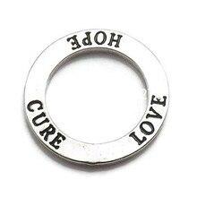 DOUBLE nez nouvelle mode Antique ton argent Affirmation cercle amour espoir Cure anneau breloque
