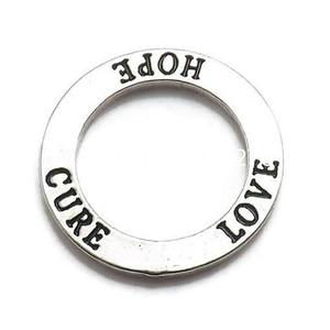 Image 1 - DOUBLE nez nouvelle mode Antique ton argent Affirmation cercle amour espoir Cure anneau breloque