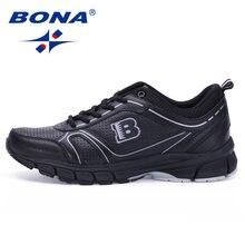 6ca8aa8f Bona nuevo estilo clásico hombres Zapatillas para correr Encaje up deporte Zapatos  para caminar al aire