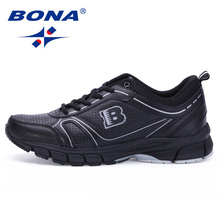 цена на BONA New Classical Style Men Running Shoes Lace Up Sport Shoes Outdoor Walking Jooging Sneakers Comfortable Athletic Shoes Men