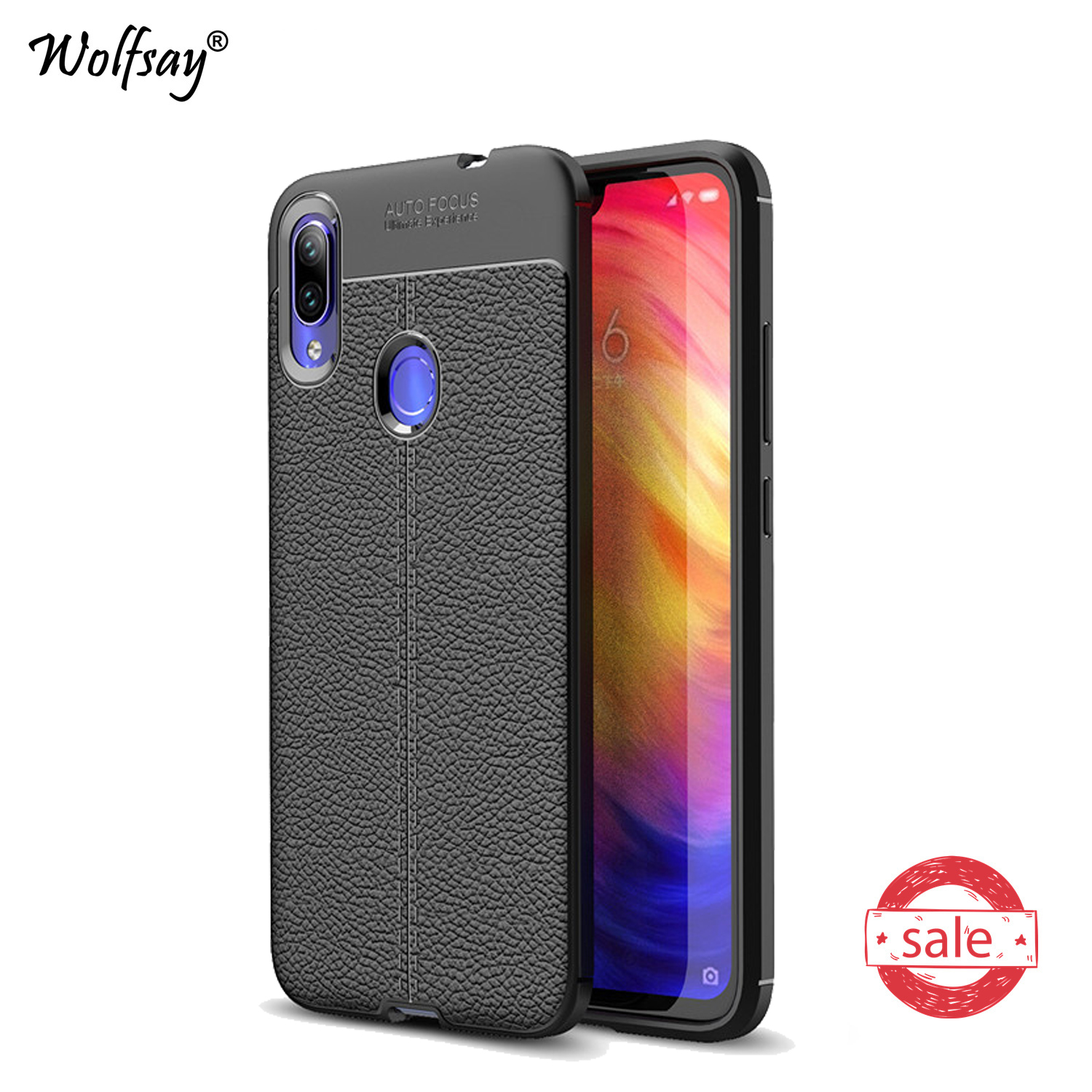 For <font><b>Xiaomi</b></font> <font><b>Redmi</b></font> Note <font><b>7</b></font> Case Shockproof Litchi Pattern Soft Rubber Phone Case For <font><b>Xiaomi</b></font> <font><b>Redmi</b></font> Note <font><b>7</b></font> <font><b>Back</b></font> <font><b>Cover</b></font> For <font><b>Redmi</b></font> Note7 image