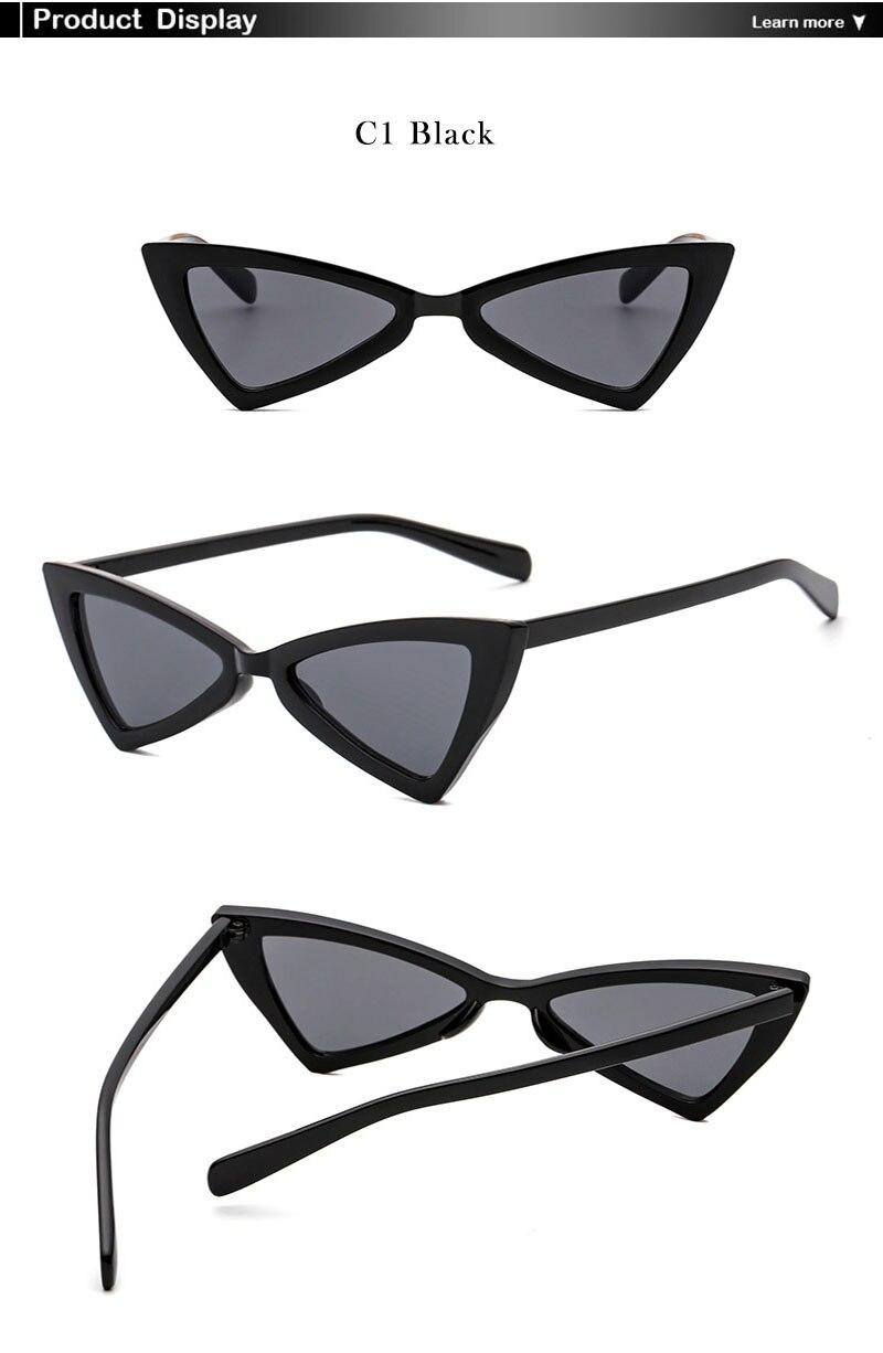 87a0c63f765f8 AiC 2018 New Cat Eye Mulheres óculos de Óculos de Sol Óculos de Sol  Triangular Moda pequeno quadro Óculos De Sol UV400. 5 6. 1 2 c1 ...