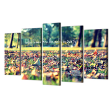 Canvas Painting Picture Wall Art Picture Home Decor Painting Picuture Art Poster Falling Leaves Hide The Path So Quietly