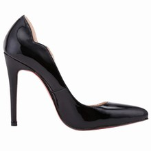 LOSLANDIFEN NEW SEXY WOMENS SHOES PUMPS 11CM HIGH HEEL POINTED TOE CORSET STYLE WORK WEDDING RED BOTTOM PUMPS COURT SHOES 302-31