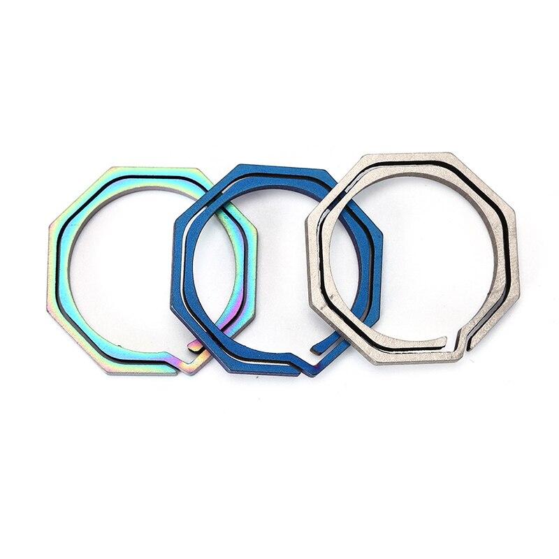 1 Keyring Octagon Titanium Edc Gear Camp Key Pocket