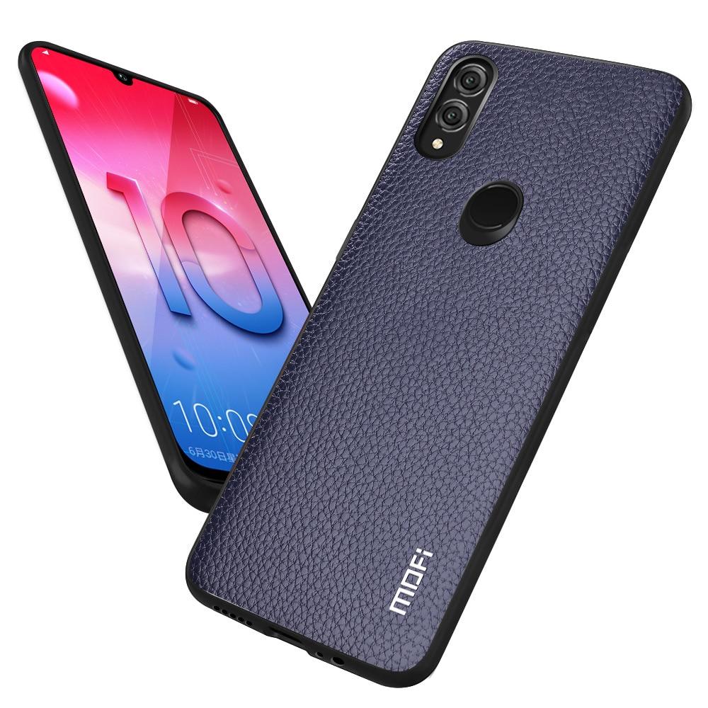 super popular e511d 6f153 MOFi Phone Case for Huawei Honor 10 Lite Back Cover for Honor10 Lite TPU  Fitted Case PU Leather Capa Original Litchi Pattern