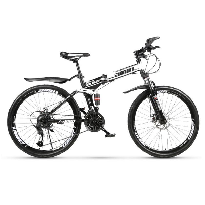 Polegada e 26 24 polegada dobrável mountain bike 21 velocidade Raios da roda da bicicleta de montanha dupla freios a disco duplo bicicleta amortecimento