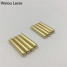 Weiou 4 шт. 1 Набор 3,8x22 мм бесшовные металлические шнурки наконечники Сменные ремонтные наконечники DIY наборы кроссовок серебро золото черный