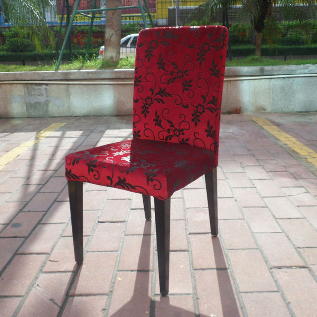 Western Restaurant Chairs Cafe Chairs Tea Shop Red Velvet Chair 6002 JY