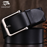 DINISITON High Quality Genuine Leather Belt Men Designer Belts Brand Strap Fashion Pin Buckle Jeans Casual