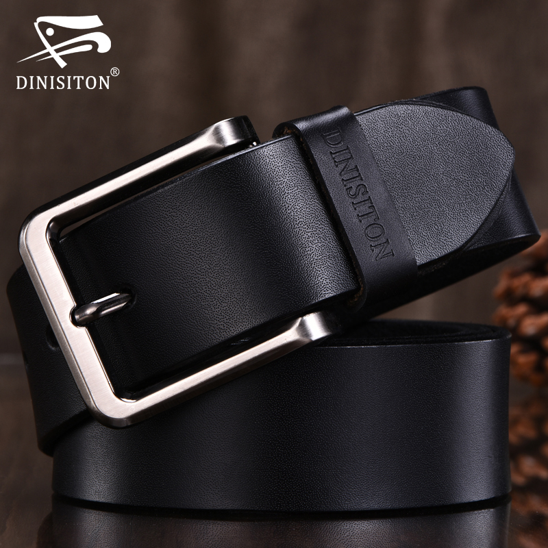DINISITON High Quality Genuine Leather belt Men Designer Belts Brand Strap Fashion Pin Buckle Jeans Casual Male Metal Hombre