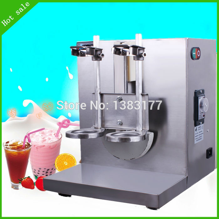 free ship Commercial automatic electric bubble tea,coffee shaker beverage,MILK,drink, juice milk shake shaker milk shake machine 5pcs cute long handle plastic coffee milky tea juice stirrer