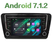 "2GB RAM 8"" Android 7.1 Quad Core 4G SWC BT Wifi Audio FM Multimedia Car DVD Player Radio GPS Stereo for Skoda Octavia 2014 2015"