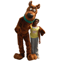 New Scooby Doo Dog Mascot Costume Cosplay Adult Size Fancy Dress Christmas