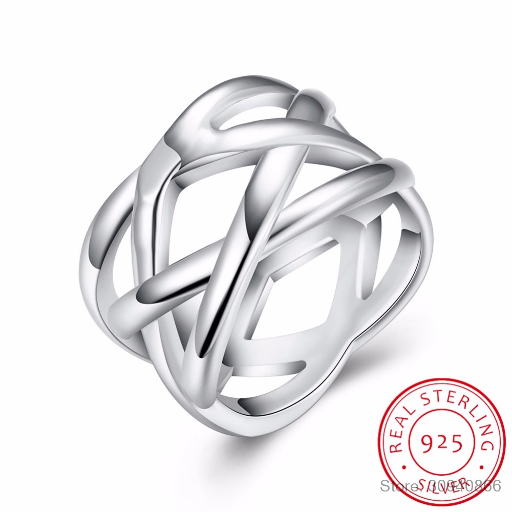 LEKANI Trendy Bijoux Women 925 Sterling Silver Ring Jewelry For Double
