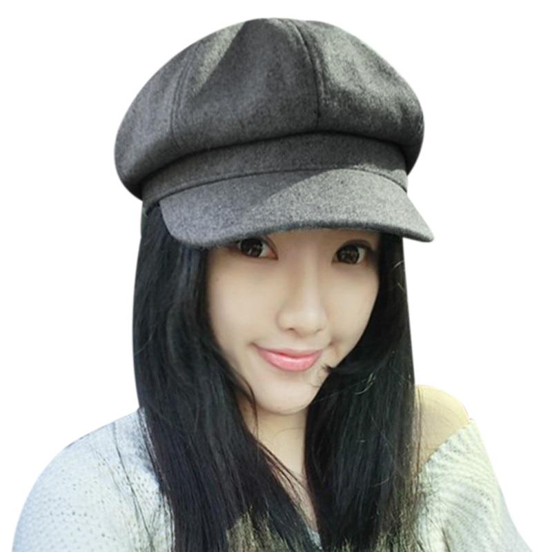 New Brand Designer Women Fashion Hat 2017 Autumn Winter Hat Female Caps High Quality Worsted Sun Visors Gorros