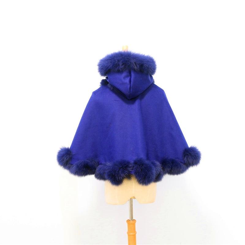 Livraison gratuite enfant (age3-5) longueur 40cm torsadé fourrure avec capuche cachemire cape - 4