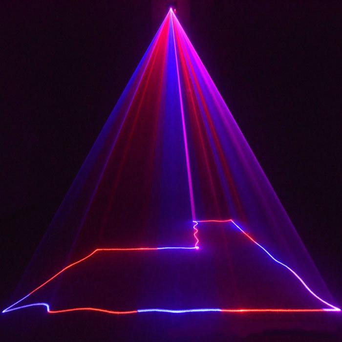 Hoge kwaliteit rood blauw lijn projectie laser Sound control Laser ...