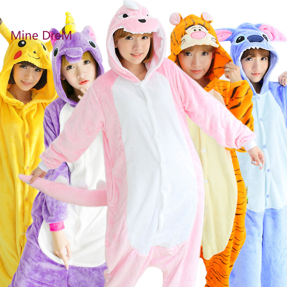 90ddd8433080b0 Tanie Kigurumi Unicorn Anime Piżama Zielony Dinozaur Cartoon Cosplay ...