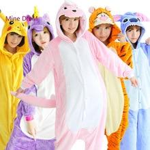 Kigurumi unicorn Anime Pijama  Cartoon Cosplay Warm Hood Loungewear Adult Unisex Homewear Animal Pajamas