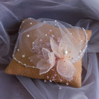 Woman Romantic Handmade Beadings Wedding Veils Hair Soft Blusher Brides Veil for Bridal Tulle Veil in High Quality