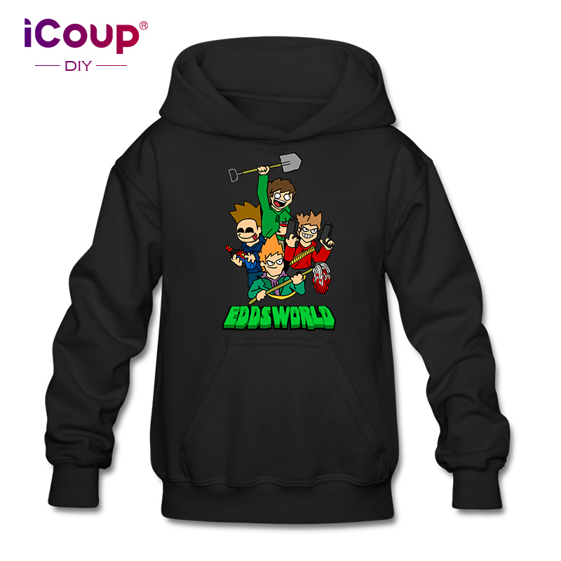 US $19 99 |iCoup Kids Eddsworld Crash Zoom Wiki 100% Cotton Hoodie  Sweatshirts for 12 18years old-in Hoodies & Sweatshirts from Men's Clothing  on