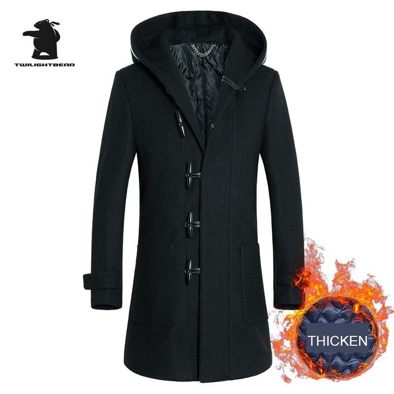 Popular Hooded Wool Coat for Men-Buy Cheap Hooded Wool Coat for ...