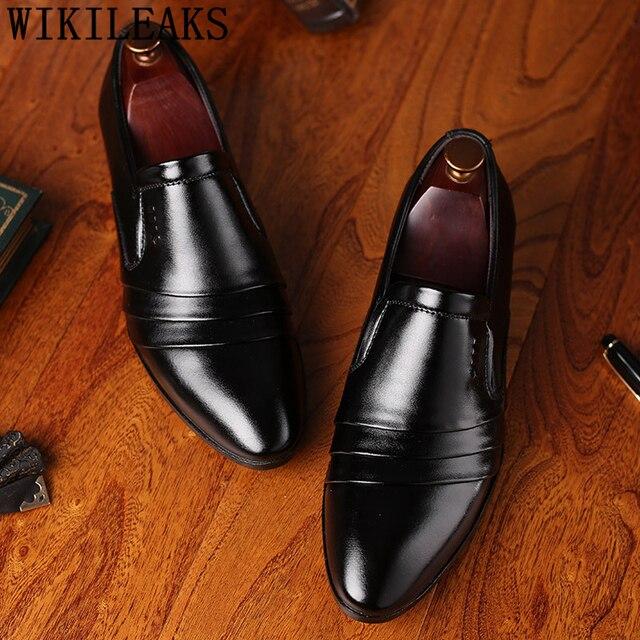 party men oxford shoes men office shoes gents shoes men elegant black dress  wedding footwear mocassin abe383fd5a48