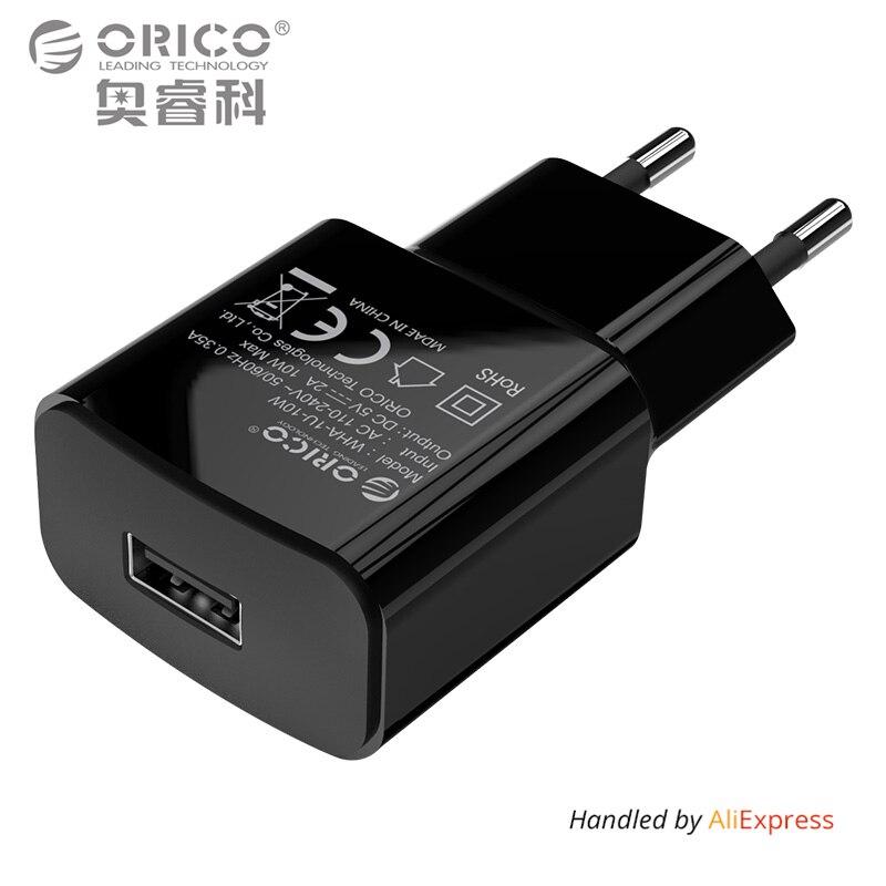 ORICO 5V1A 5V2A <font><b>USB</b></font> Зарядное устройство Путешествия стены Зарядное устройство адаптер 5 Вт 10 W Портативный смарт-мобильный телефон Зарядное устройс&#8230;