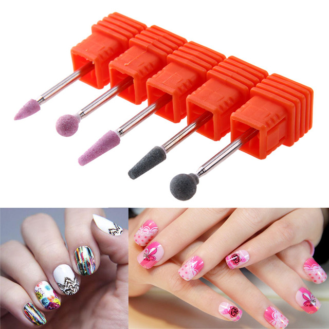 5 pcs Nail Drill Manicure Nail Polishing Dead Skin Remove Files ...
