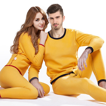 Thermal Underwear men Winter Women Long Johns sets fleece keep warm in cold weather size M to 4XL 1