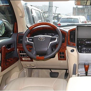 33pcs Wooden Dash Board Cover Interior Panel Trims For Toyota Land Cruiser 200 Fj 200