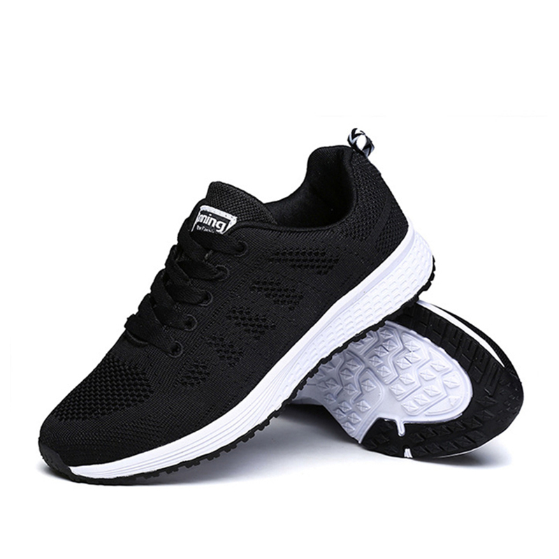 Outdoor Fitness Sneakers Running Shoes Woman Spring Sport Shoes Girl Summer Breathable Mesh Trainers for Women Zapatos Mujer 2018 autumn sneakers women breathable mesh running shoes damping sport shoes woman outdoor blue walking zapatos de mujer betis
