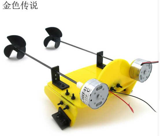 Diy artesanal acessório barco navio kit elétrico dois motor hélice de energia conduzida para controle remoto barco modelo robô f17929