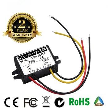 Regulador del convertidor de 24V CC 36V a 12V 3A CC módulo de la fuente de alimentación de la pantalla Led del coche CE RoHS