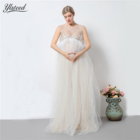 2017 Maternity Photography Props White Lace Tassel Maxi Dress Photo Shoot Maternity Gowns Sheer Maternity Photography