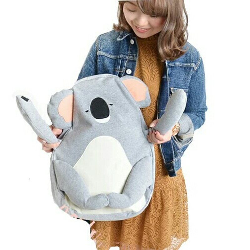 Cute Japanese Backpacks for Teenage school Girls Cartoon koala Bear Design large Travel Rucksack high Quality book bag hot fashion design personality little bear women backpacks cute character shapes cartoon girls schoolbag casual shoulder bag
