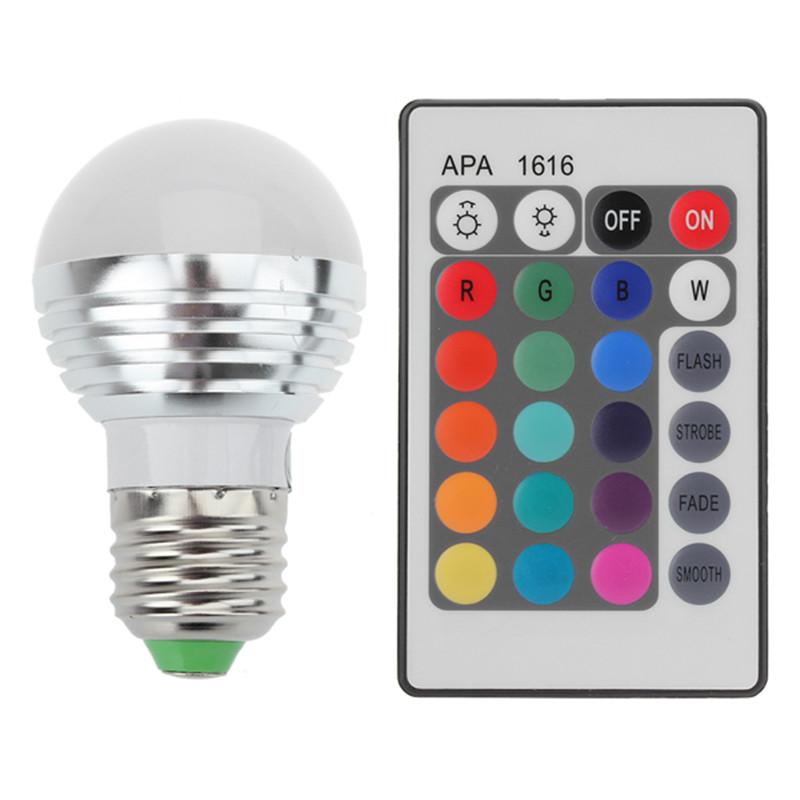 E27 RGB LED Bulb 25