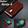 "Redmi note 4 5.5 ""titular do cartão capa case para xiaomi redmi note 4 pro prime phone case ultra fina carteira de couro tampa articulada"