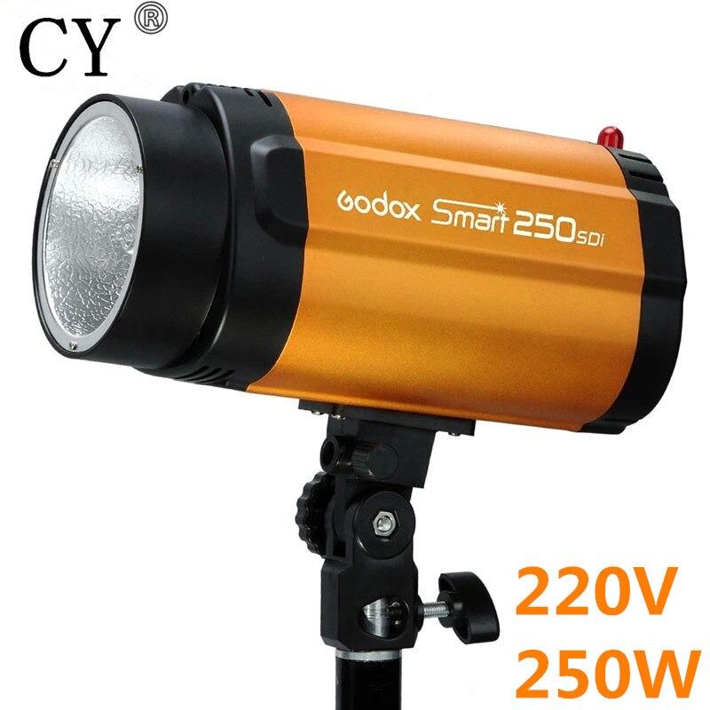 220V 250ws Godox Smart 250SDI Photo Studio Mini Strobe Flash Monolight Studio Lighting PSLF9A godox gs300 studio strobe flash light monolight