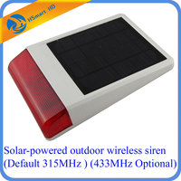 Solar Powered Outdoor Wireless Siren Wireless Waterproof Outdoor Big Strobe Solar Powered Siren Alarm With LED