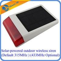 Solar Powered Outdoor Wireless Siren Wireless Waterproof Outdoor Big Strobe Solar Powered Siren Alarm With LED