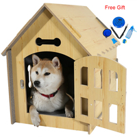 Dog House Luxury Fashion Natural Wood Double sided Breathable Collapsible Durable Indoors Travel Pet Bed For Cat Dog Cage