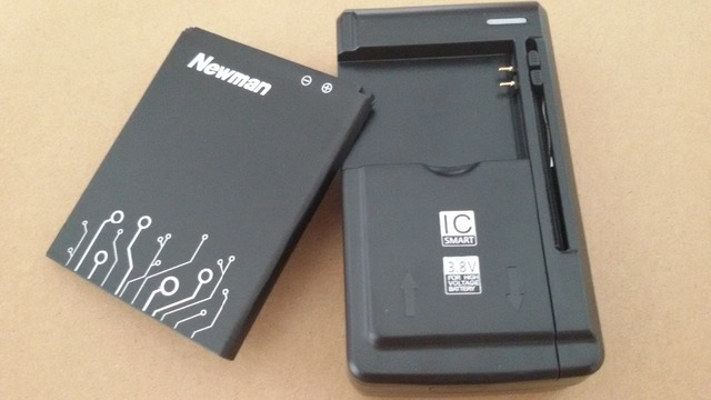 1Lot=1PC Universal battery Charger+2500MAh battery For Newsmy Newman N2 Freelander I20 Highscreen Explosion BL-98